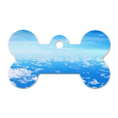 Clouds Dog Tag Bone (two Sides) by trendistuff
