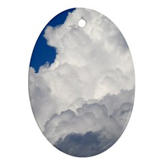 Big Fluffy Cloud Oval Ornament (two Sides) by trendistuff