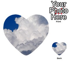 Big Fluffy Cloud Multi Purpose Cards (heart)  by trendistuff