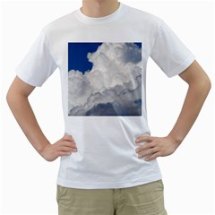 Big Fluffy Cloud Men s T Shirt (white)  by trendistuff