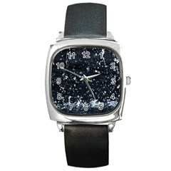 Autumn Rain Square Metal Watches by trendistuff
