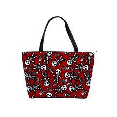 Cute Skeleton Pattern Large Shoulder Bag by Ellador