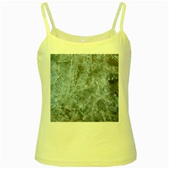 Watery Ice Sheets Yellow Spaghetti Tanks by trendistuff