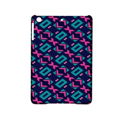 Pink And Blue Shapes Pattern Apple Ipad Mini 2 Hardshell Case by LalyLauraFLM