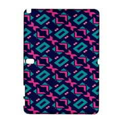 Pink And Blue Shapes Pattern Samsung Galaxy Note 10 1 (p600) Hardshell Case by LalyLauraFLM
