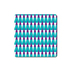 Peaks Pattern Magnet (square) by LalyLauraFLM