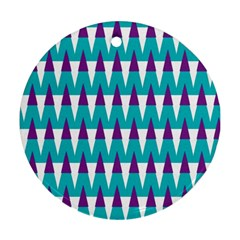 Peaks Pattern Round Ornament (two Sides) by LalyLauraFLM