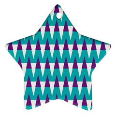Peaks Pattern Star Ornament (two Sides) by LalyLauraFLM