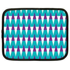 Peaks Pattern Netbook Case (xl) by LalyLauraFLM