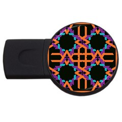 Juxtaposed Shapes Usb Flash Drive Round (4 Gb) by LalyLauraFLM