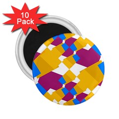 Layered Shapes 2 25  Magnet (10 Pack) by LalyLauraFLM
