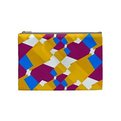 Layered Shapes Cosmetic Bag (medium) by LalyLauraFLM