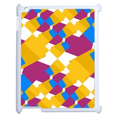 Layered Shapes Apple Ipad 2 Case (white) by LalyLauraFLM