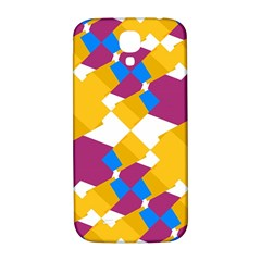 Layered Shapes Samsung Galaxy S4 I9500/i9505  Hardshell Back Case by LalyLauraFLM
