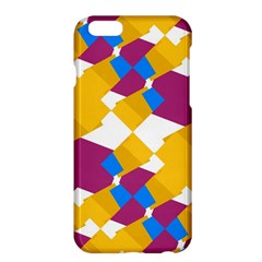 Layered Shapes	apple Iphone 6 Plus Hardshell Case by LalyLauraFLM