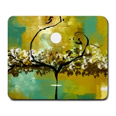 She Open s To The Moon Large Mousepads by digitaldivadesigns