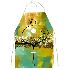 She Open s To The Moon Full Print Aprons by digitaldivadesigns