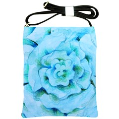 Blue Flower Shoulder Sling Bags by BubbSnugg