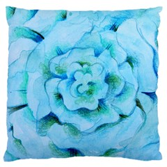 Blue Flower Standard Flano Cushion Cases (two Sides)  by BubbSnugg