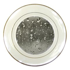Water Drops 4 Porcelain Plates by trendistuff