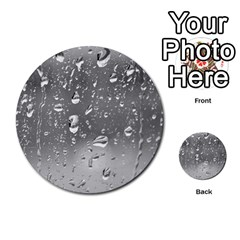 Water Drops 4 Multi Purpose Cards (round)  by trendistuff