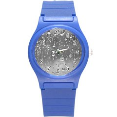 Water Drops 4 Round Plastic Sport Watch (s) by trendistuff