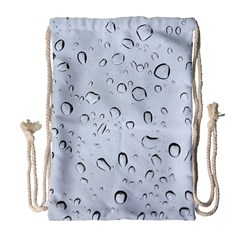 Water Drops 2 Drawstring Bag (large) by trendistuff