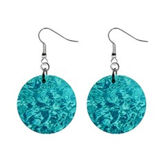 Turquoise Water Mini Button Earrings