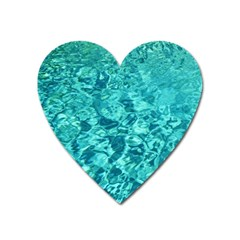 Turquoise Water Heart Magnet by trendistuff