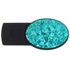 Turquoise Water Usb Flash Drive Oval (4 Gb)  by trendistuff