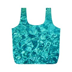 Turquoise Water Full Print Recycle Bags (m)  by trendistuff