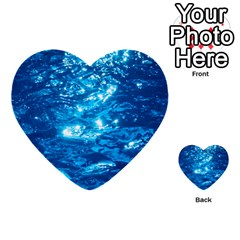 Light On Water Multi-purpose Cards (heart)  by trendistuff