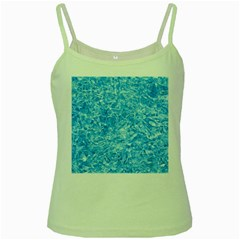 Blue Ice Crystals Green Spaghetti Tanks by trendistuff