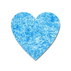 Blue Ice Crystals Heart Magnet by trendistuff