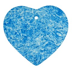 Blue Ice Crystals Heart Ornament (2 Sides) by trendistuff