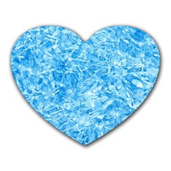 Blue Ice Crystals Heart Mousepads by trendistuff