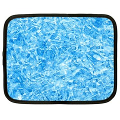 Blue Ice Crystals Netbook Case (large) by trendistuff