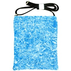 Blue Ice Crystals Shoulder Sling Bags by trendistuff
