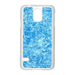 Blue Ice Crystals Samsung Galaxy S5 Case (white) by trendistuff