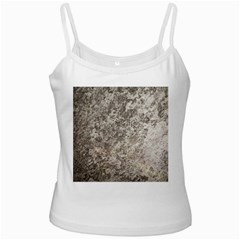 Weathered Grey Stone White Spaghetti Tanks by trendistuff