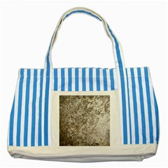 Weathered Grey Stone Striped Blue Tote Bag  by trendistuff