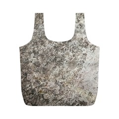 Weathered Grey Stone Full Print Recycle Bags (m)  by trendistuff