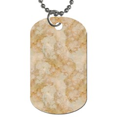 Tan Marble Dog Tag (two Sides) by trendistuff