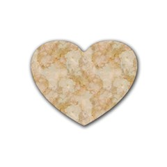 Tan Marble Rubber Coaster (heart)  by trendistuff