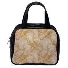 Tan Marble Classic Handbags (one Side) by trendistuff