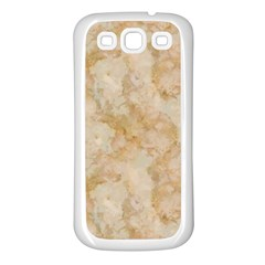 Tan Marble Samsung Galaxy S3 Back Case (white) by trendistuff