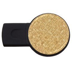 Tan Diamond Brick Usb Flash Drive Round (4 Gb)  by trendistuff