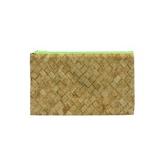 Tan Diamond Brick Cosmetic Bag (xs) by trendistuff