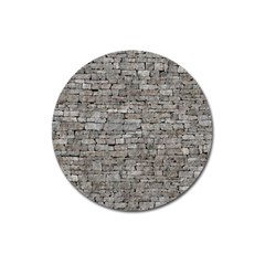 Stone Wall Grey Magnet 3  (round) by trendistuff