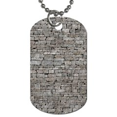 Stone Wall Grey Dog Tag (one Side) by trendistuff